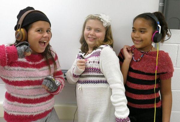 Kidsday reporters, from left, Leah Flower, Skylar MacIntyre,