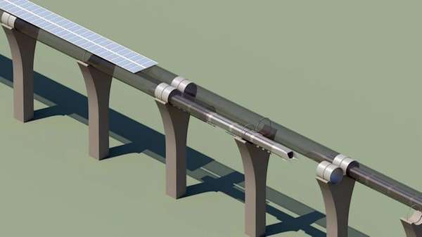 This conceptual design file rendering provided by SpaceX