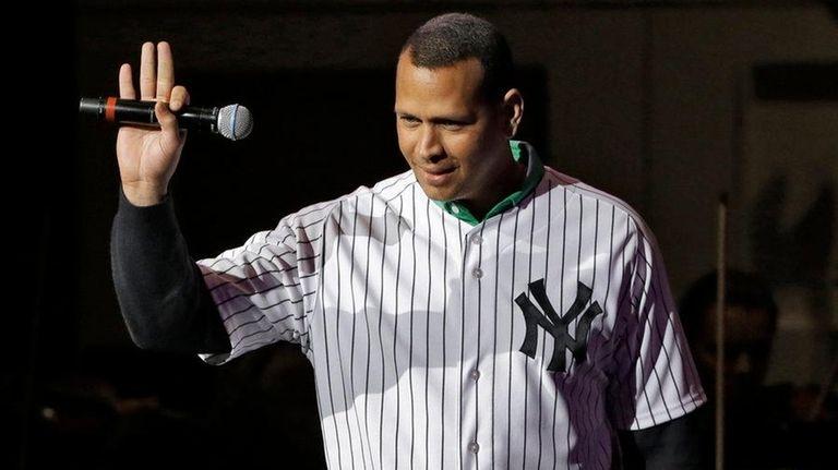 New York Yankees' Alex Rodriguez speaks to
