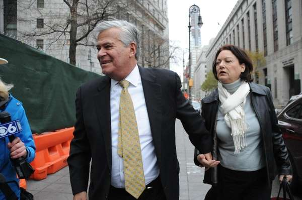 Dean Skelos and his wife Gail on their