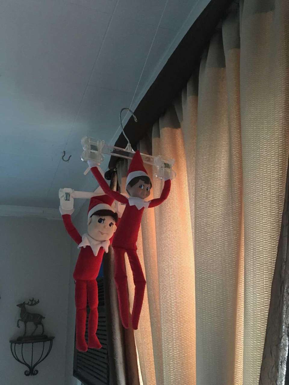 Our elves, Sam and Elliot, are so adventurous!