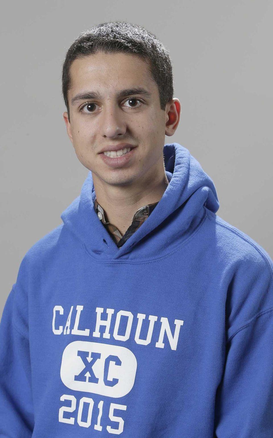 Elias Platanias broke 16 minutes at Bethpage, running