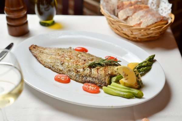 Dover sole Francaise baked with lemon and white