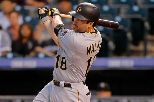 Neil Walker of the Pittsburgh Pirates hits a