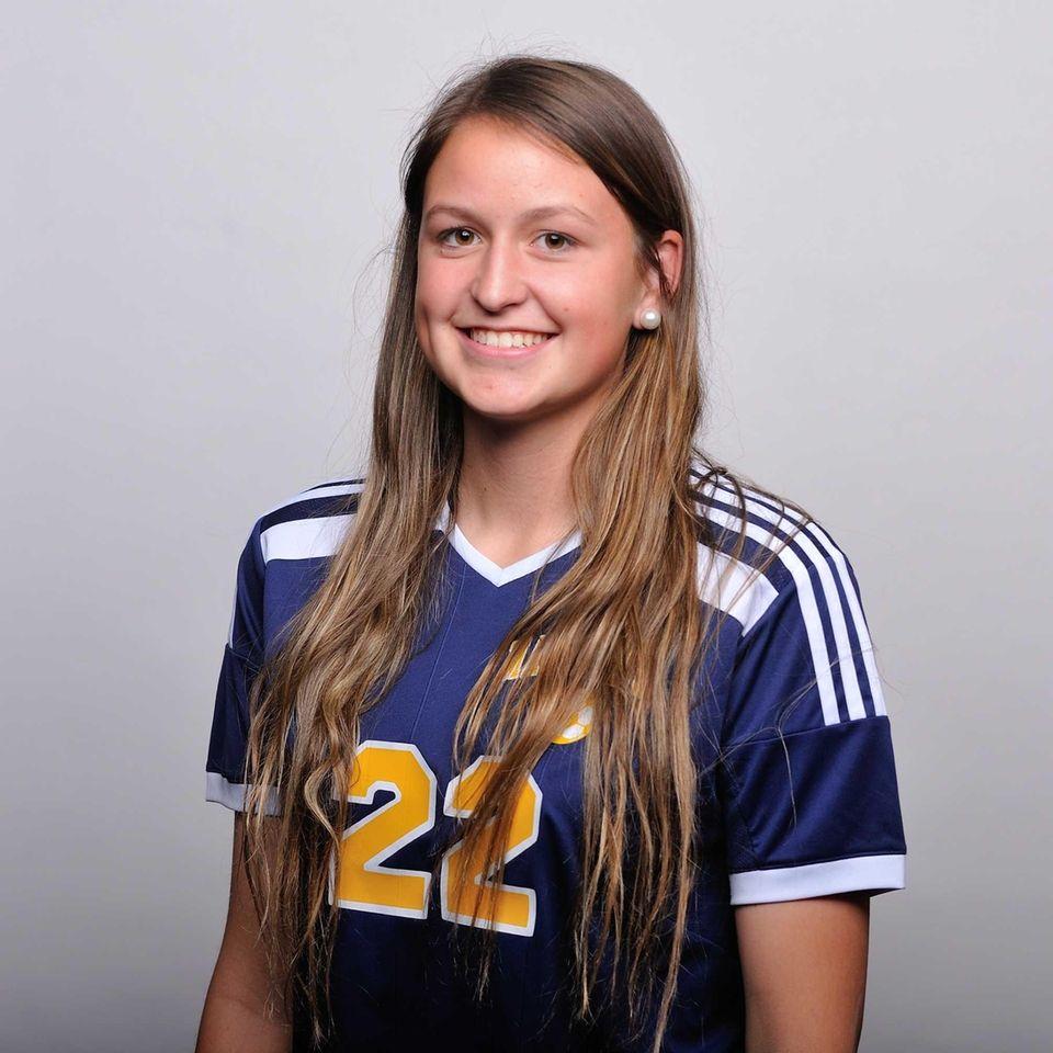 Senior defender Melanie Hingher, bound for Fairfield University,
