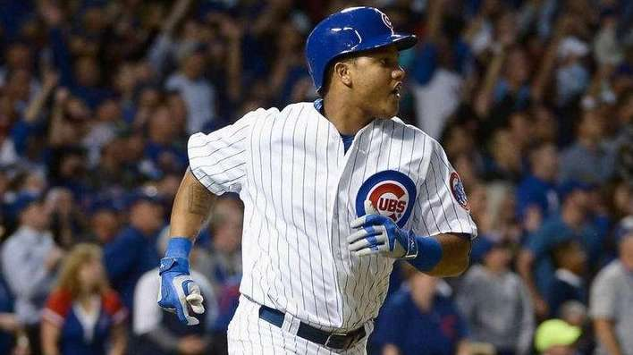 Starlin Castro of the Chicago Cubs runs