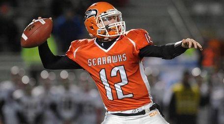 Carey quarterback Mike Catanese throws a pass