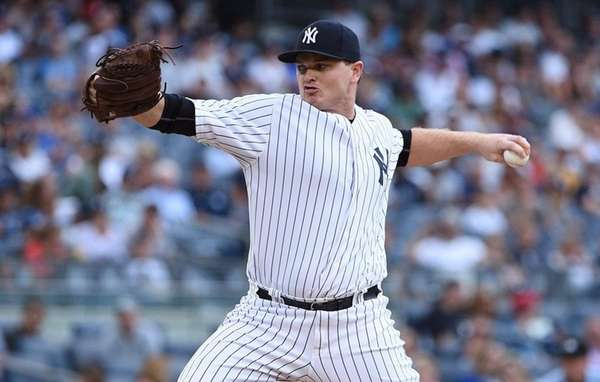 New York Yankees relief pitcher Justin Wilson