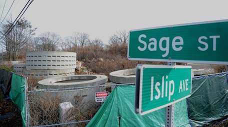 Contaminated fill from this Central Islip property, shown