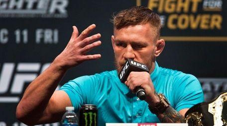 Interim UFC featherweight champion Conor McGregor speaks
