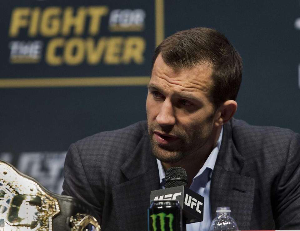 UFC middleweight fighter Luke Rockhold answers a question
