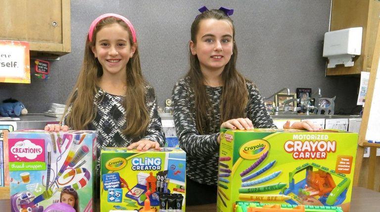 Kidsday reporters Sara Ghaly, left, and Nicole Sperounis