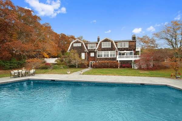 This Water Mill home has oversized rooms, including