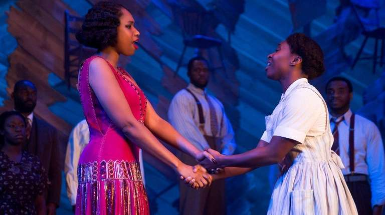 Jennifer Hudson, left, and Cynthia Erivo in
