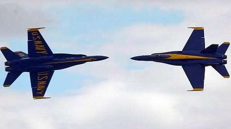 Thousands watched the Blue Angels perform over Jones