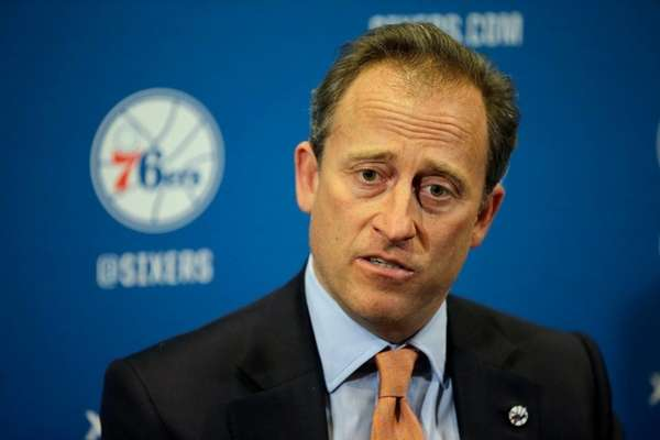 Philadelphia 76ers co-managing owner Josh Harris speaks