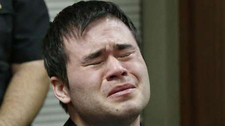 Daniel Holtzclaw cries as the verdicts are