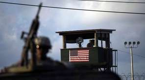 A U.S. soldier mans a machine gun