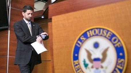 House Speaker Paul Ryan arrives at a