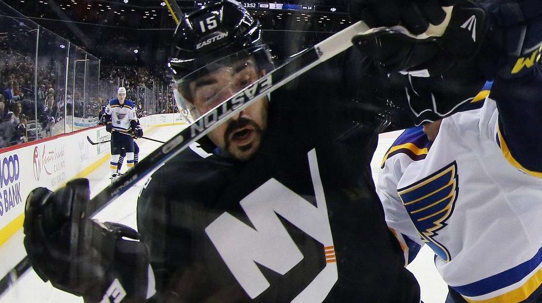 Cal Clutterbuck #15 of the New York