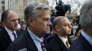 Dean and Adam Skelos outside Manhattan federal court