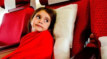To alleviate your child's flying anxiety, try to