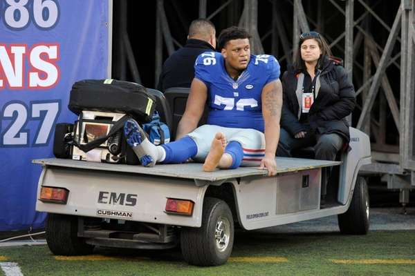 New York Giants offensive tackle Ereck Flowers is