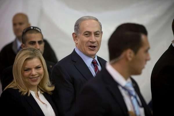 Israeli Prime Minister Benjamin Netanyahu and his