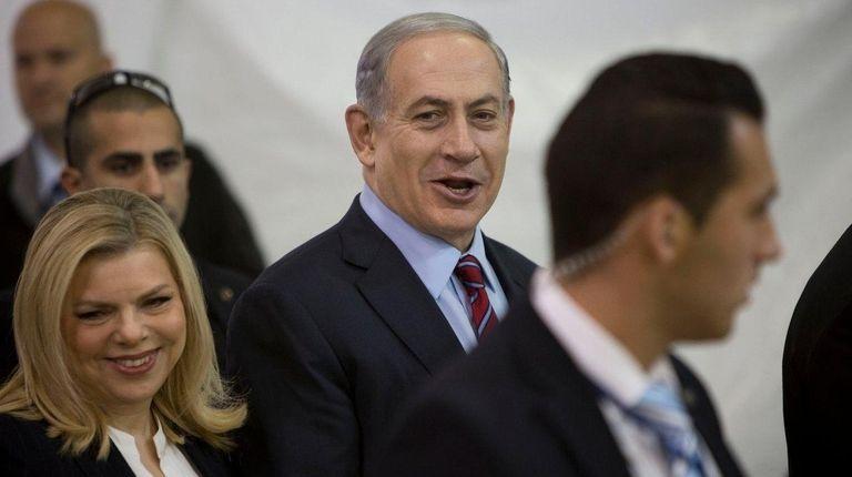 Israeli Prime Minister Benjamin Netanyahu and his