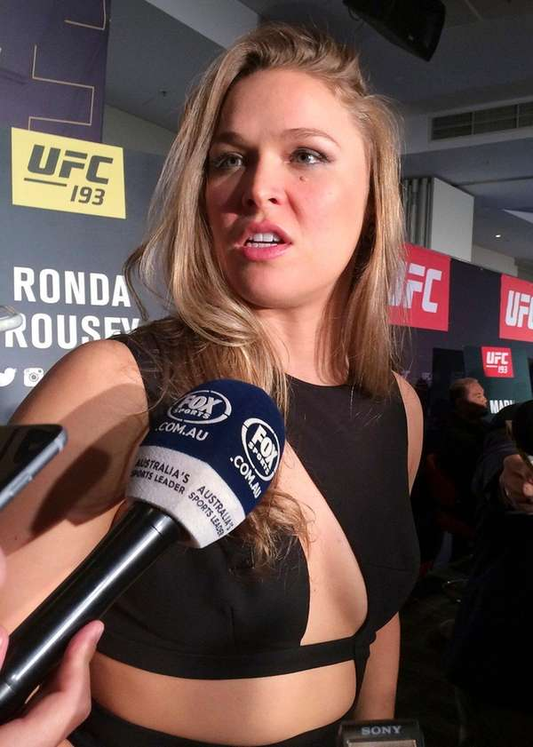 Professional fighter Ronda Rousey made good on a