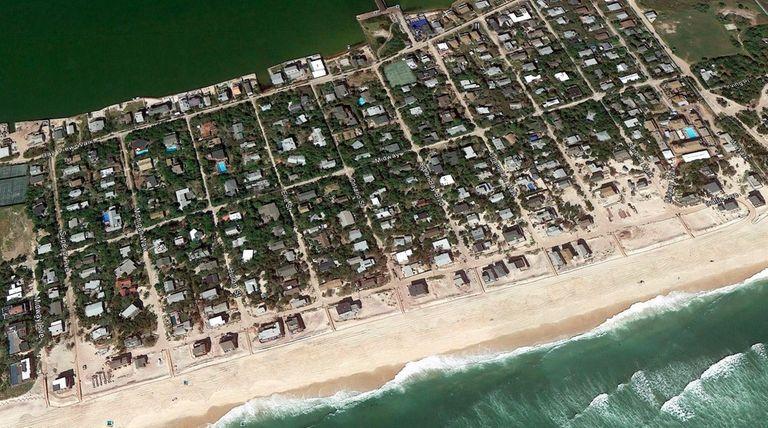 Google Earth view of Ocean Bay Park