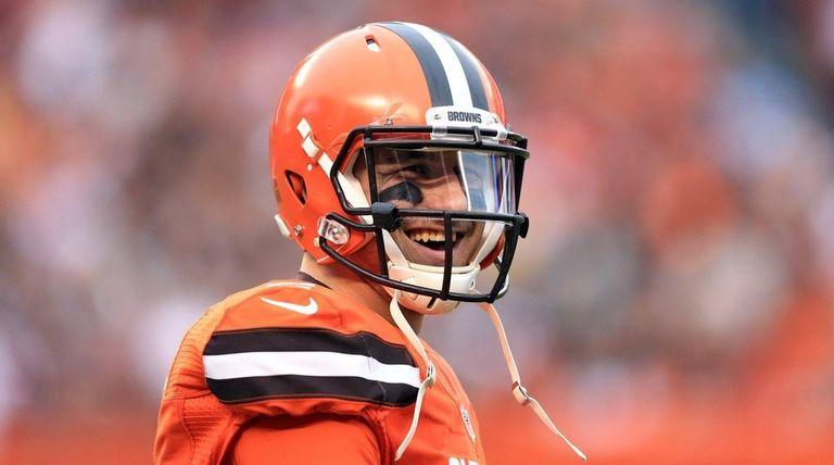 Quarterback Johnny Manziel of the Cleveland Browns
