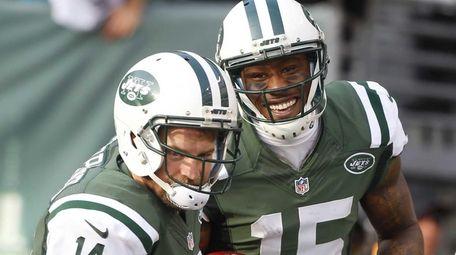 Brandon Marshall #15 of the New York Jets