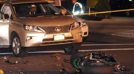 Police said a motorcyclist was killed in an