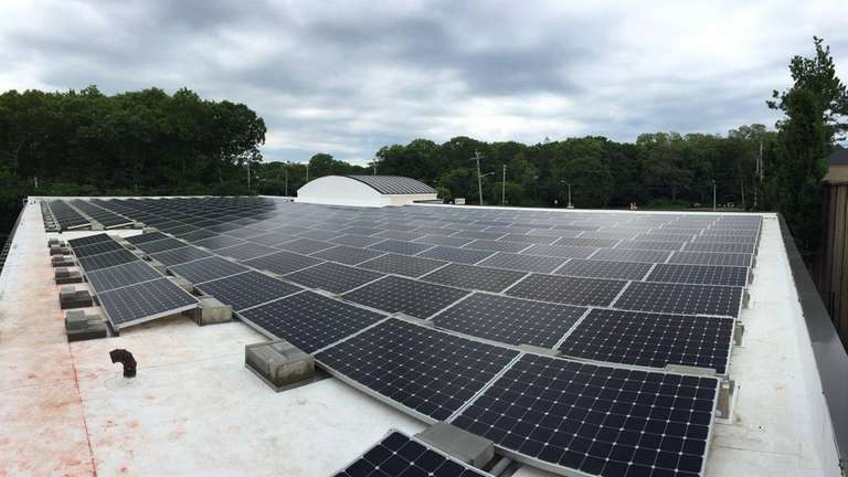 Solar arrays are in place on the roof