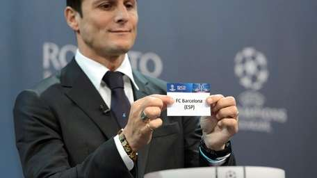 Former Italian soccer player Javier Zanetti, ambassador