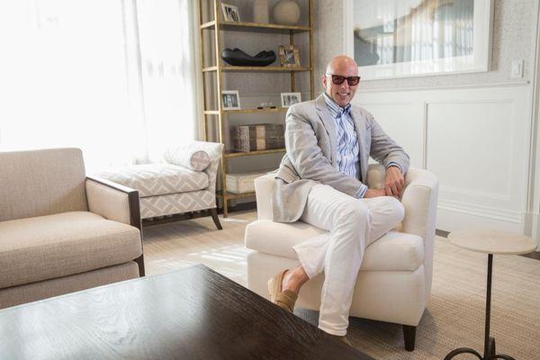 Franco Biscardi, interior designer with Brady Design, shows