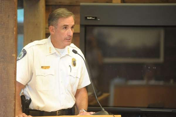 East Hampton Town Police Chief Michael Sarlo earned
