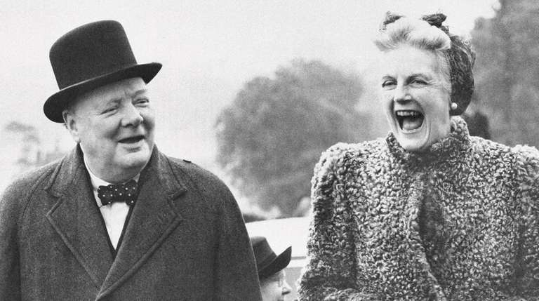 Winston Churchill with his wife, Clementine, shortly after