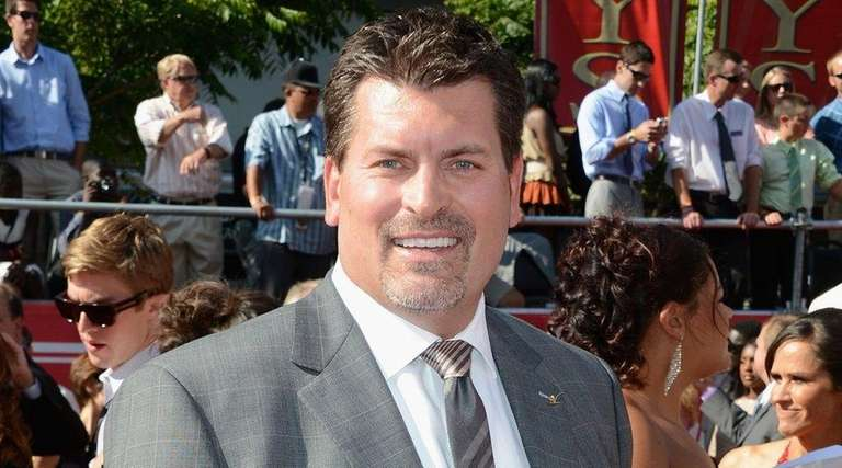 Former NFL player Mark Schlereth arrives at