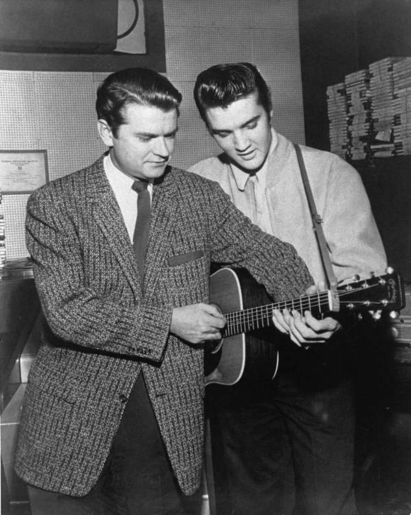 Sam Phillips of Sun Records with his discovery