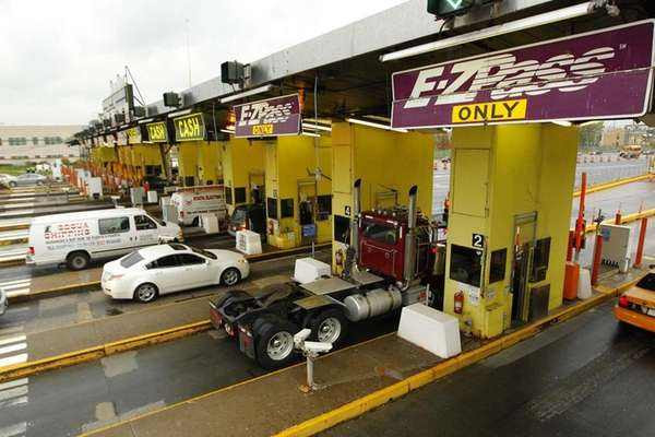 The toll plaza on the Bronx side of