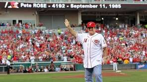 Pete Rose had little to celebrate after an