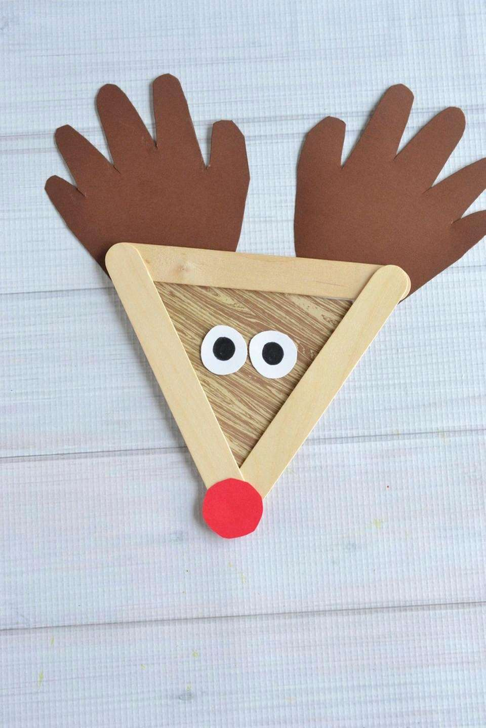 Supplies: -3 Popsicle sticks for each reindeer -Sheets