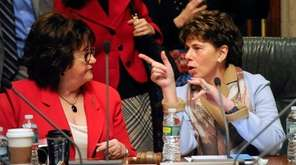 New York State Education Commissioner MaryEllen Elia, left,