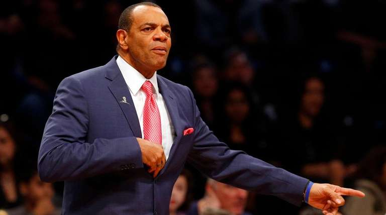 Nets coach Lionel Hollins looks on against the