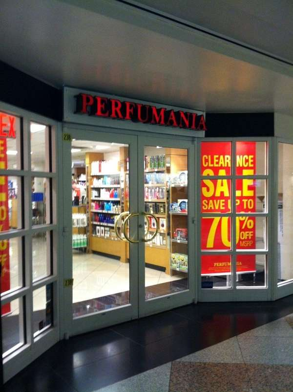 Perfumania at Penn Station in an undated