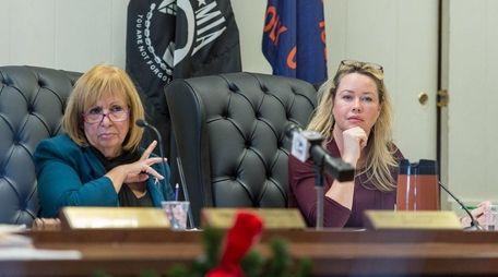 Supervisor Angie Carpenter, left, and Councilwoman Trish Bergin