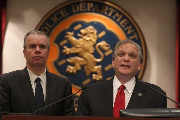 Acting Police Commissioner Thomas Krumpter and Nassau County