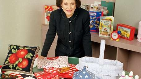 Vernon shows off an assortment of merchandise that